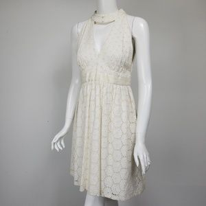 Anna Sui Anthropologie Eyelet Dress NEW